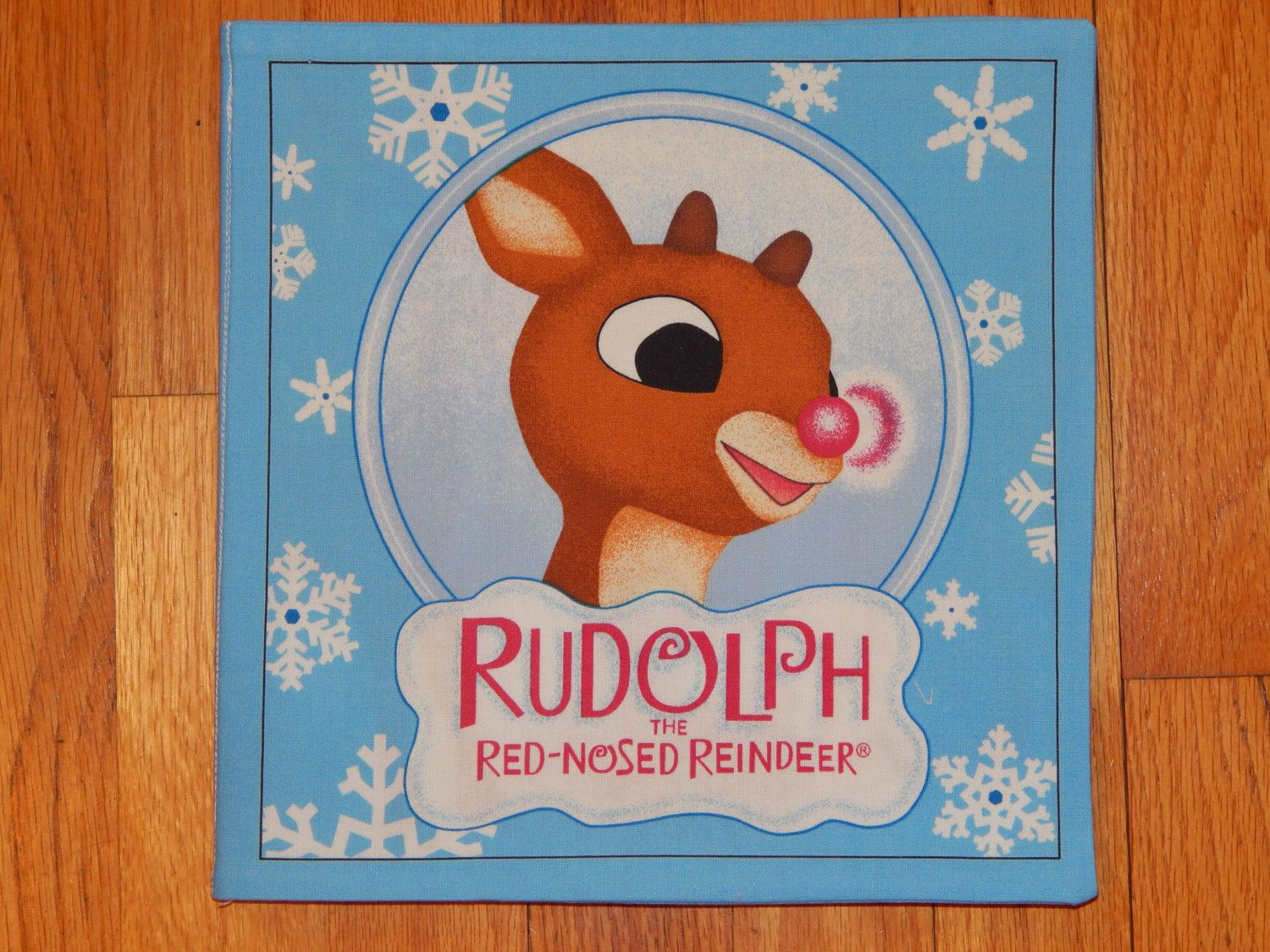 Children's Cloth Book/Rudolph the Red-Nosed Reindeer Book/Christmas Cloth Book by CraftingByTheWayside on Etsy https://www.etsy.com/listing/204329571/childrens-cloth-bookrudolph-the-red