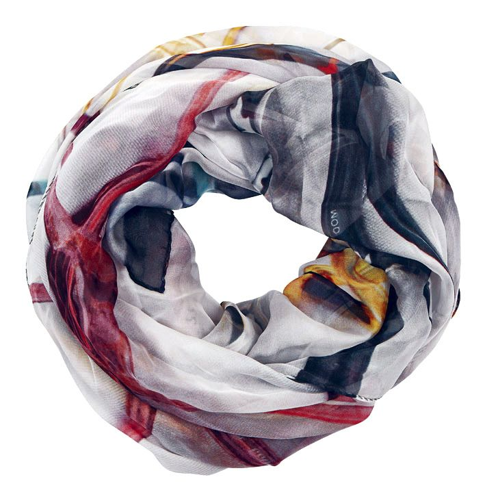 "Good & Co AW13 silk scarf - ""Eye Inspection"" - 160x130cm - wrapped"