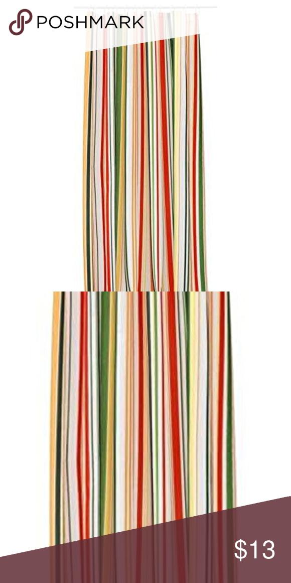 Ikea Baven 70s Style Striped Shower Curtain Ikea Baven 70s Style