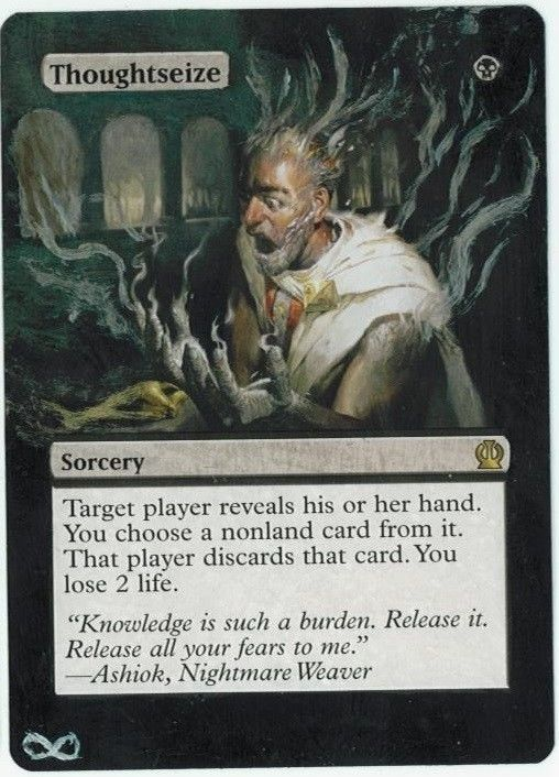Thoughtseize Altered Art Theros Rare