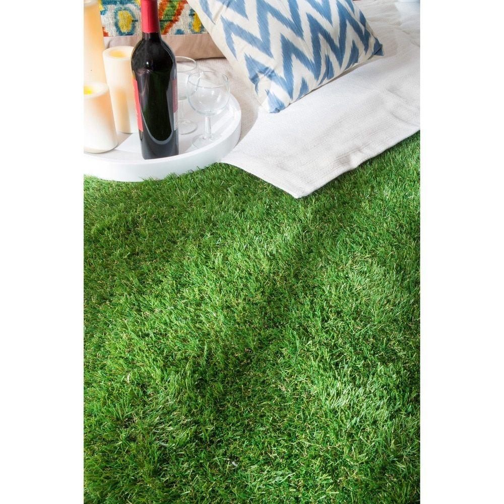 NuLOOM Artificial Grass Outdoor Lawn Turf Green Patio Rug (5u0027 X 8u0027) By  Nuloom