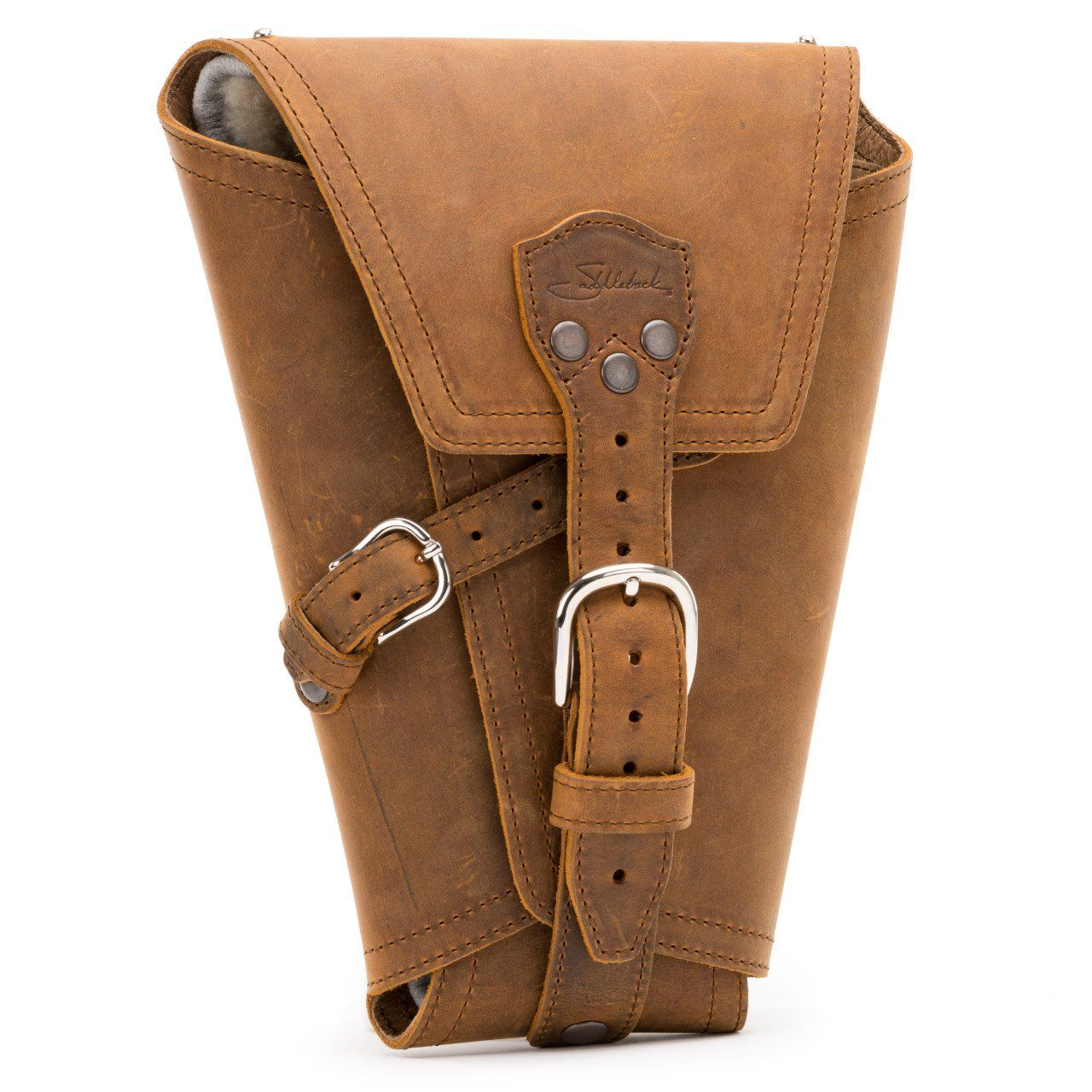 leather pistol wrap medium in tobacco leather | Koza | Pinterest