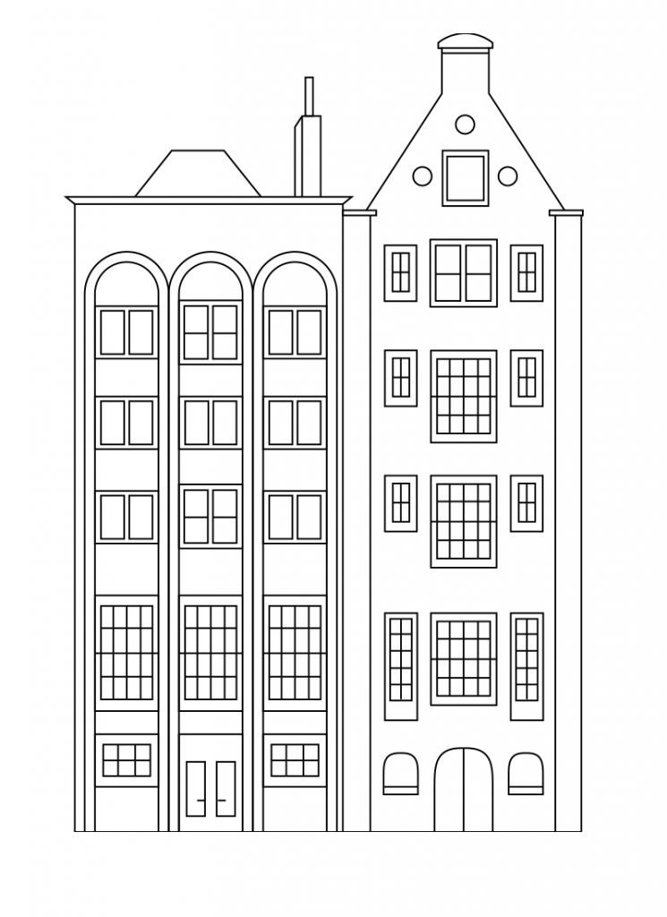 City Coloring Pages Best Coloring Pages For Kids Coloring Pages For Kids House Drawing For Kids Coloring Pages
