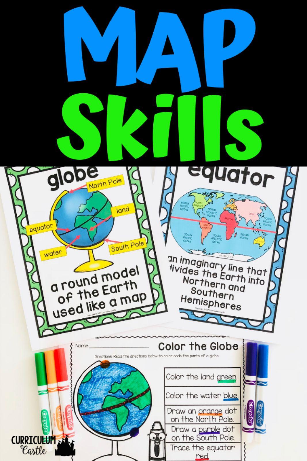 Landforms Map Skills Map Skills Map Skills Worksheets Social Studies Maps [ 1600 x 1067 Pixel ]