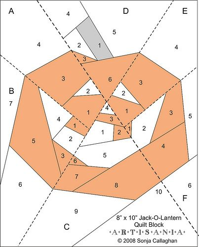 Free jack o lantern pattern paper piecing