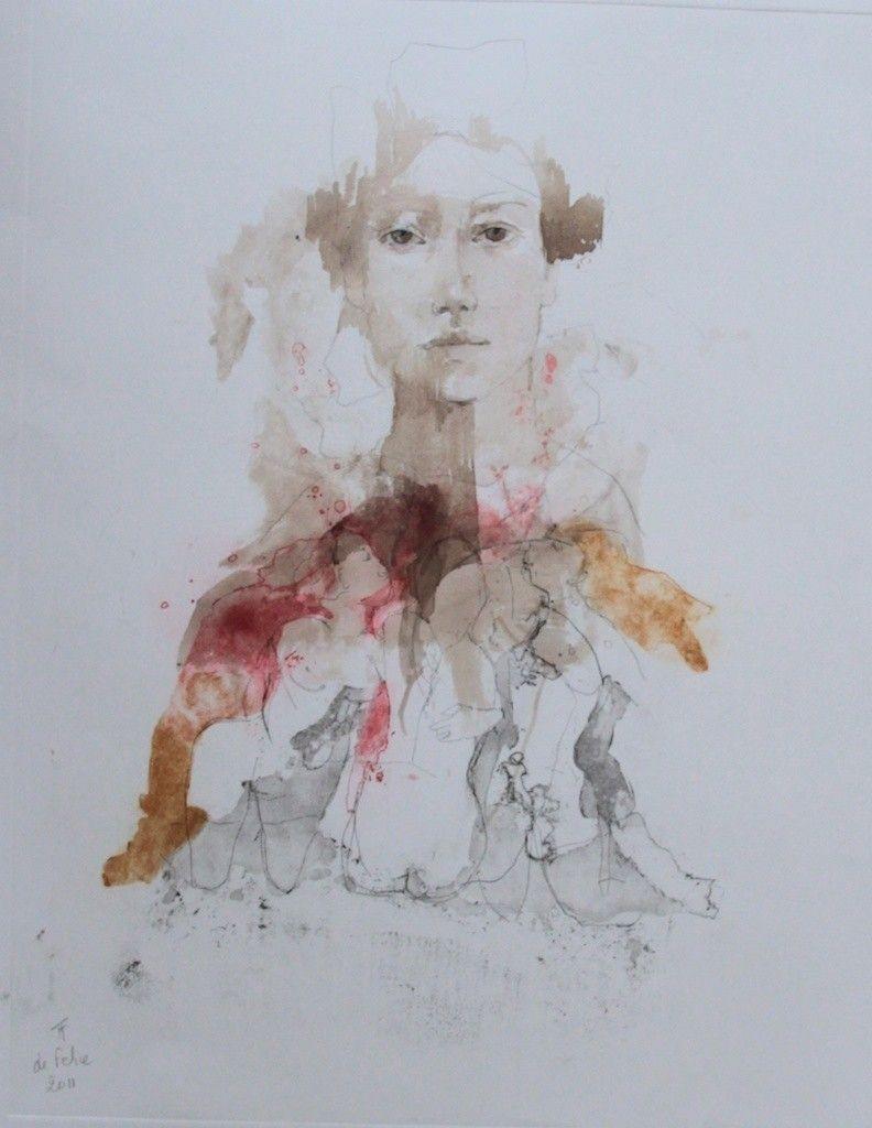 Francoise De Felice French Born 1952 Encre De Chine Livre D