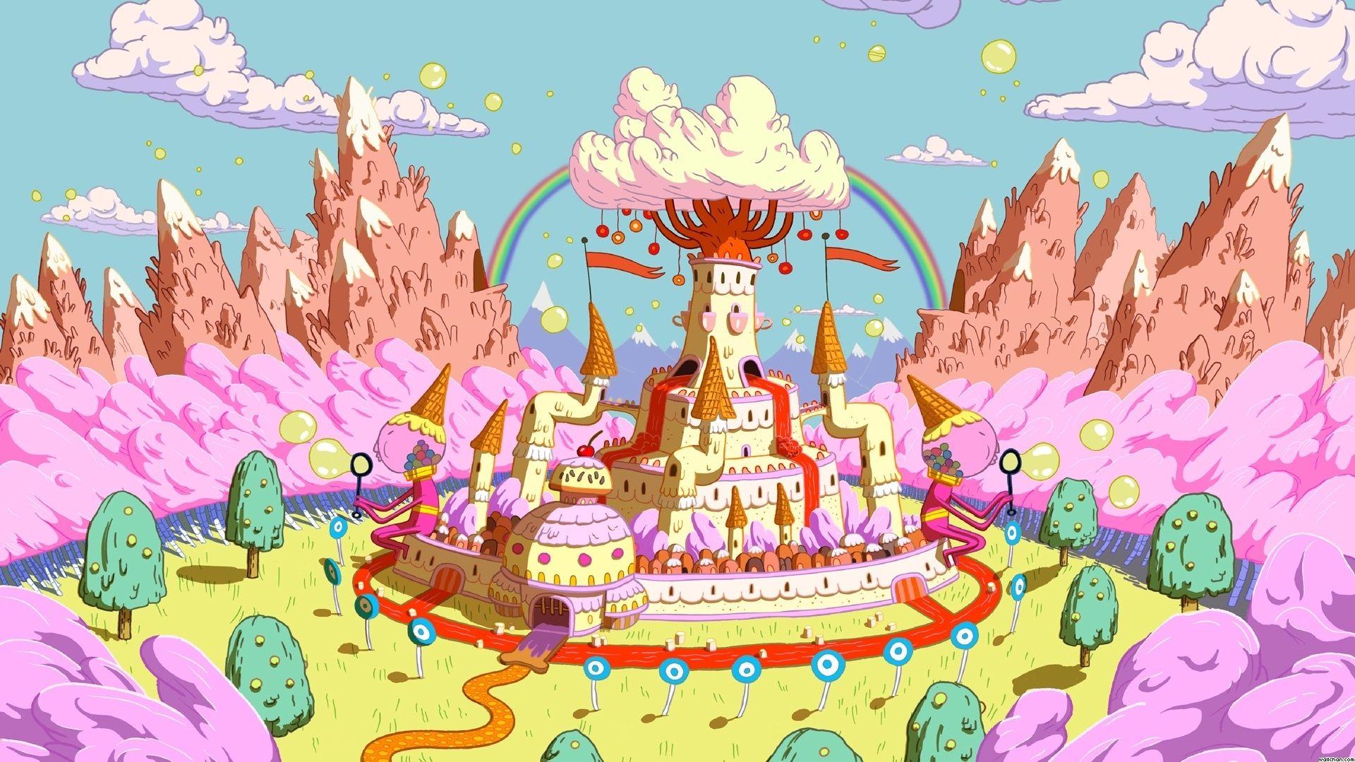 Princess Bubblegum S Castle Adventure Time Background Adventure Time Wallpaper Adventure Time Princesses