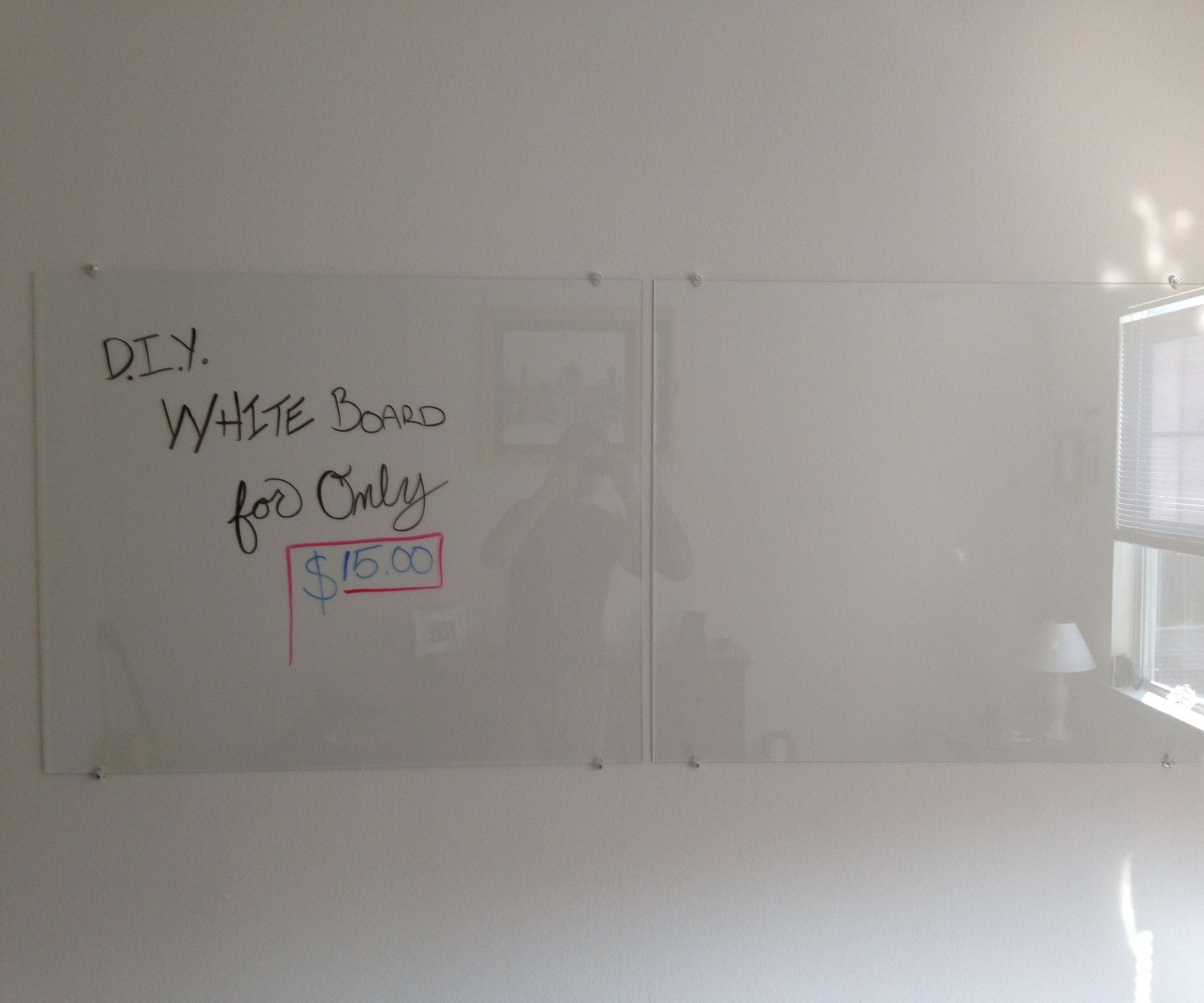 Diy Glass Dry Erase Board Brooks Street Glass White