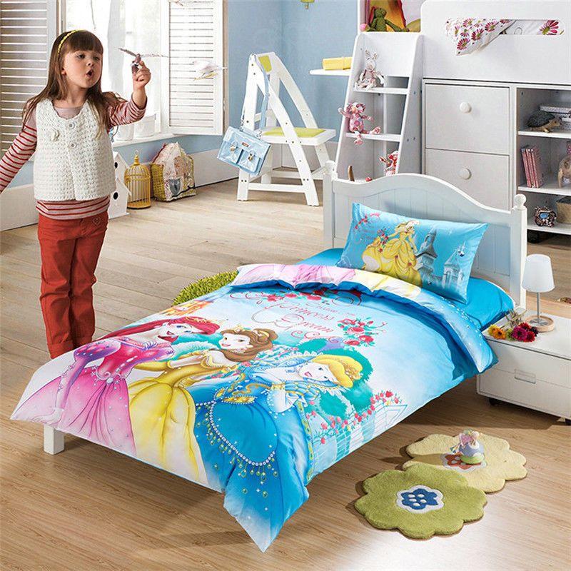 home textiles disney princess cartoon style bedding set