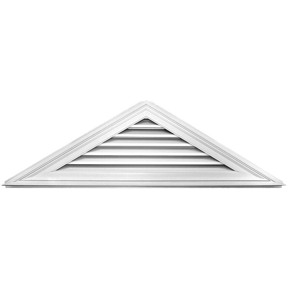 Builders Edge 120140706001 71 X 21 7 12 Pitch Triangle Vent 001 White Check Out This Great Product Gable Vents Builders Edge Fiberglass Screen