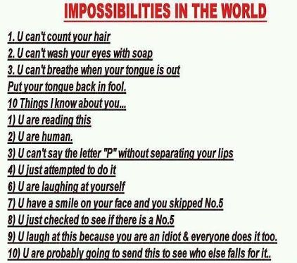 Impossibilities In The World Cute And Funny Read You