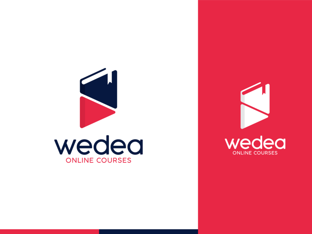 Modern Book Logo For Online Course Business