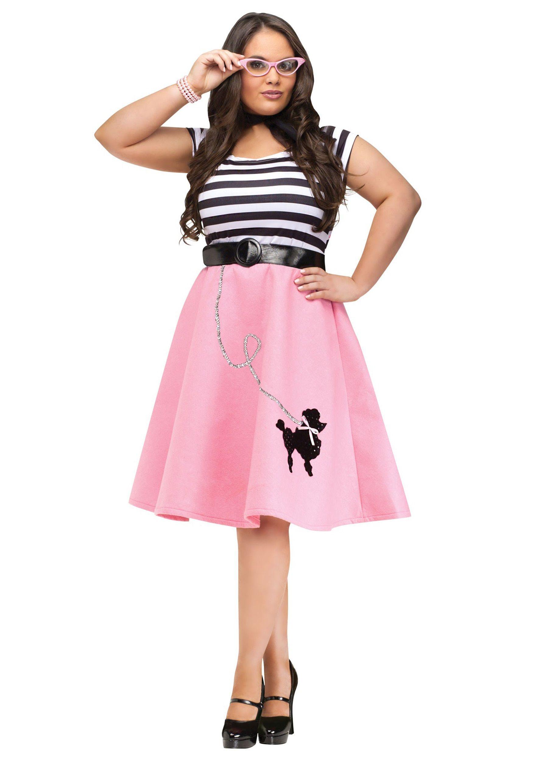 Plus Size Poodle Skirt Dress | Halloween | Pinterest