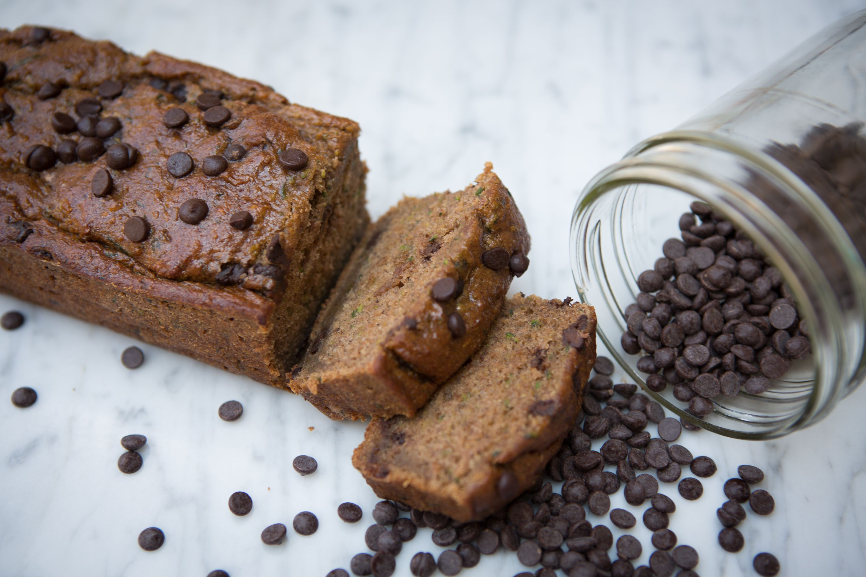Glutenfree + Vegan Zucchini Chocolate Chip Loaf Gluten