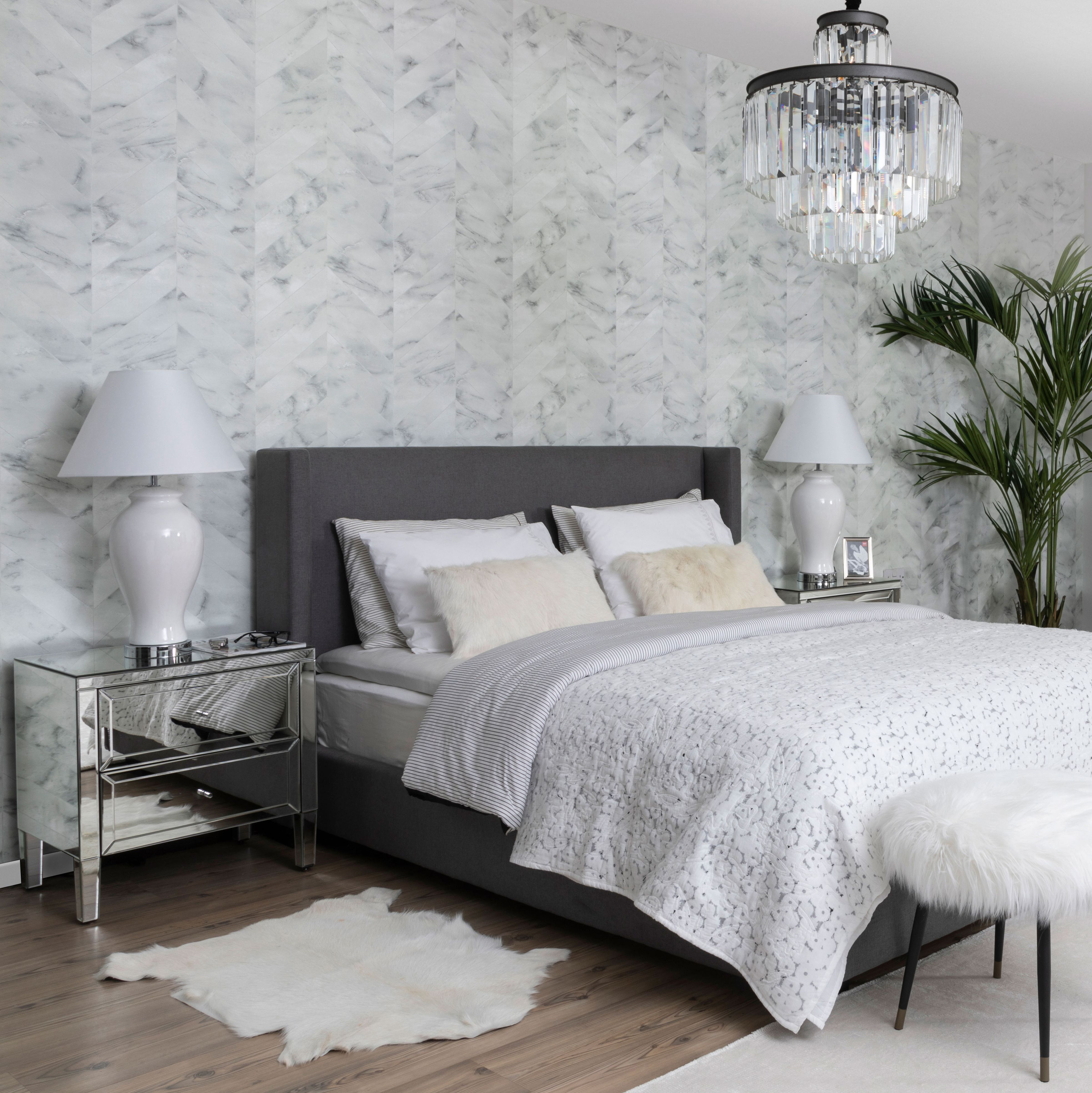 A sleek and calm bedroom makes the best sleep Black and