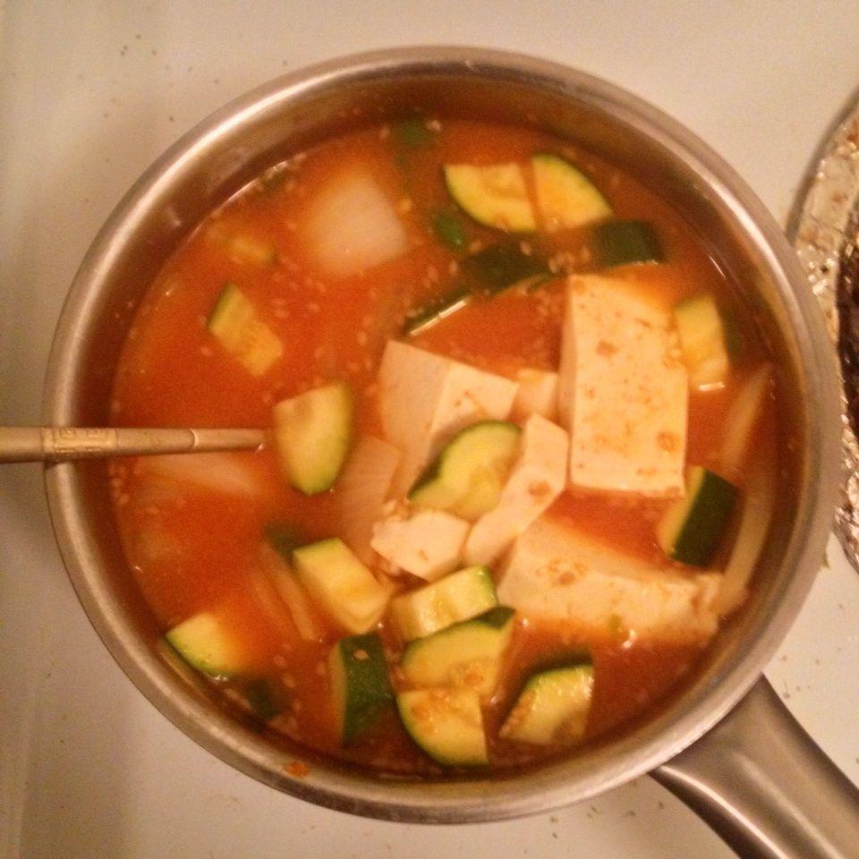 Ssamjang Jjigae (쌈장찌개; Seasoned Bean Paste Stew) Recipe