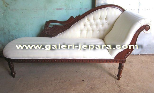 Swan Chaise Lounge Sofa - Antique Reproduction Indonesia Furniture $150~$250 : swan chaise - Sectionals, Sofas & Couches