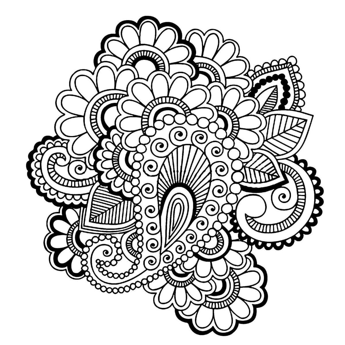 15 Pics of Easy Coloring Pages Paisley Pattern - Paisley ...
