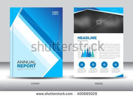 Blue Annual report template,cover design,brochure fl yer,info - annual report template design