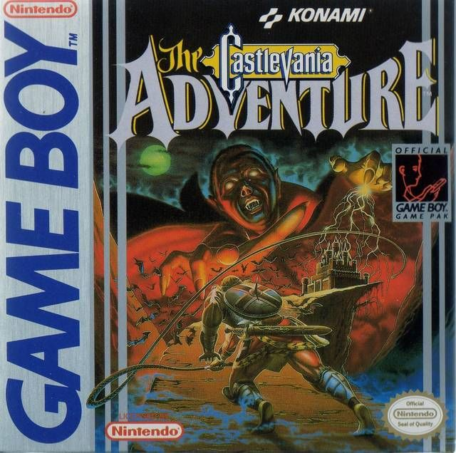 The Castlevania Adventure Gameboy 1989 Gameboy Nintendo Games
