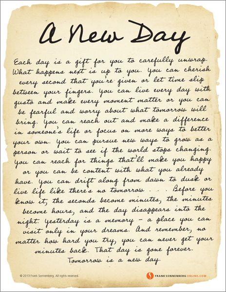 A New Day Priceless Gemsquotes Quotes New Day Words