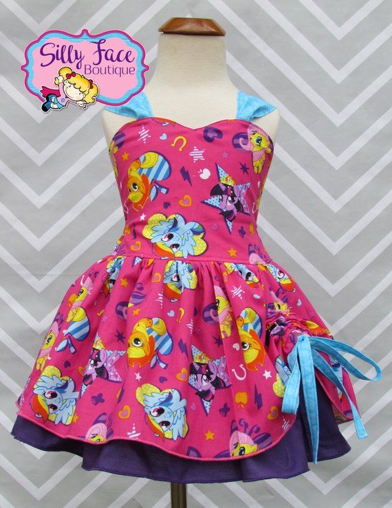 Girls My Little Pony MLP Birthday Party Outift Pageant Dress Skirt Outfit 2610db787