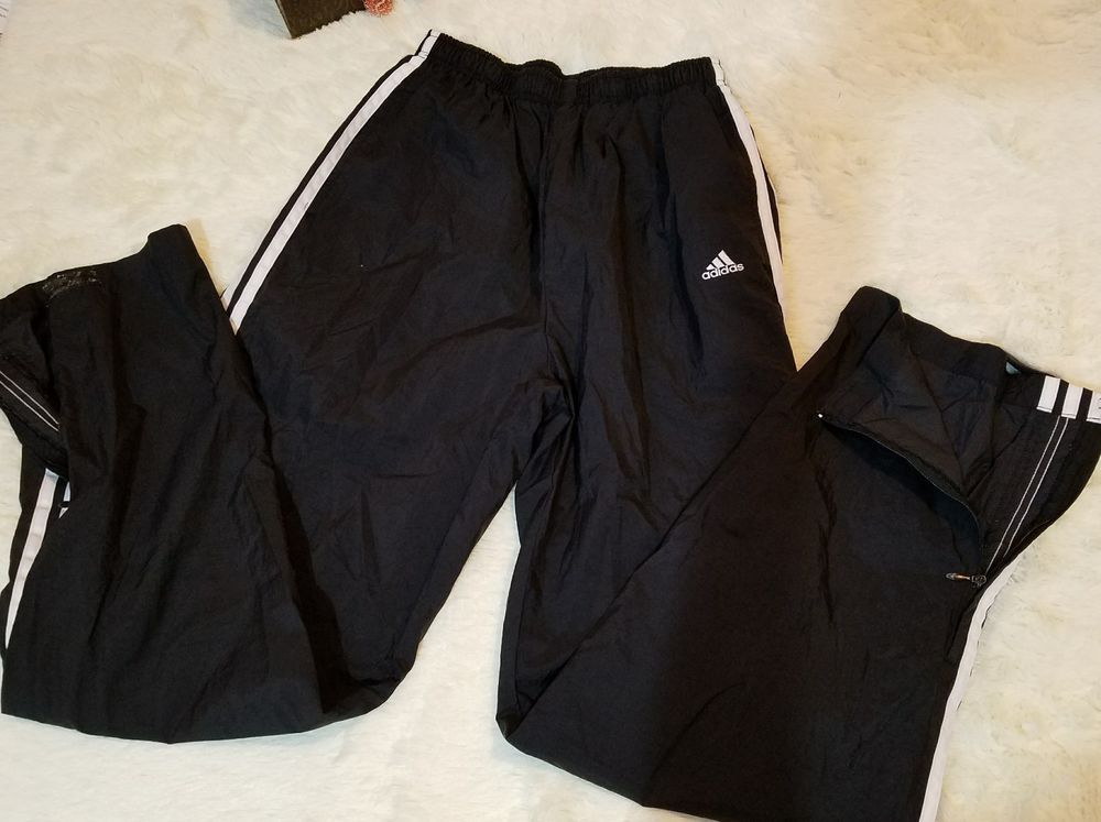 Vtsg 90 s Nylon Adidas Black 100% Large 100% Nylon Track Pants L Large Athletic Zip f359ee2 - amningopskrift.website