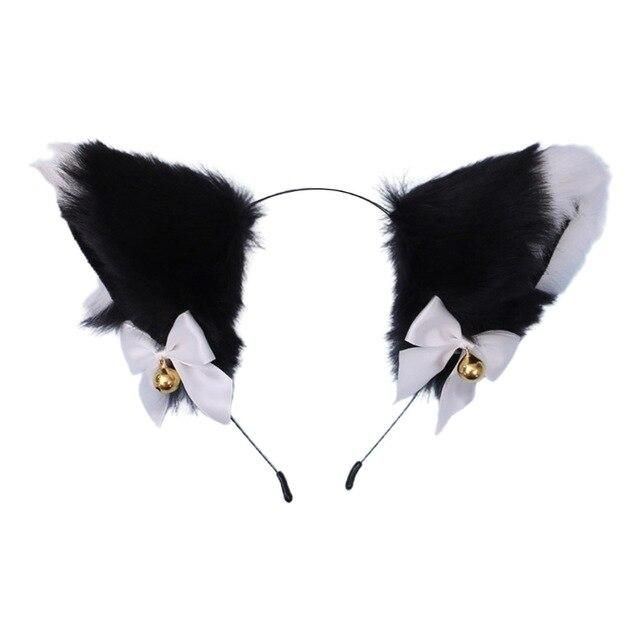 Photo of Women Sweet Lovely Anime Lolita Headband Cute Furry Plush Cat Ears Hair Hoop with Bowknot Small Bells Fancy Dress Cosplay Party – 10