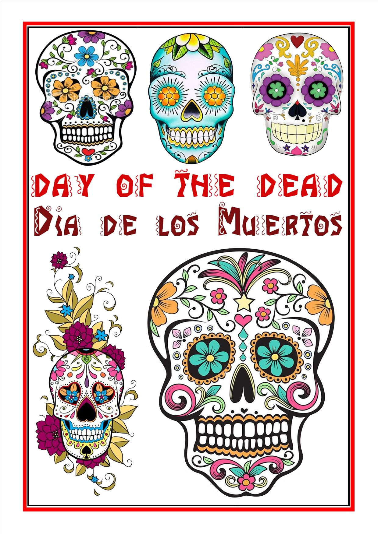 worksheet Day Of The Dead Worksheets day of the dead 2 resources and worksheets pinterest 2