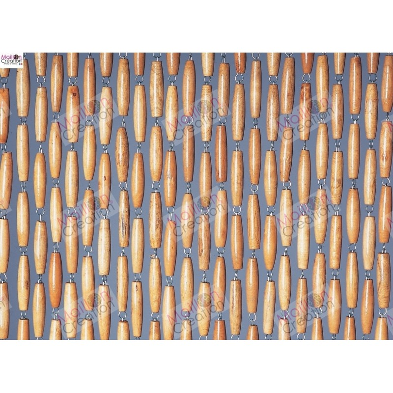 portiere en perles de bois rideau