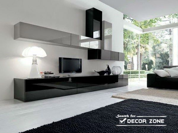 modern TV unites for large living room | Wall units | Pinterest ...