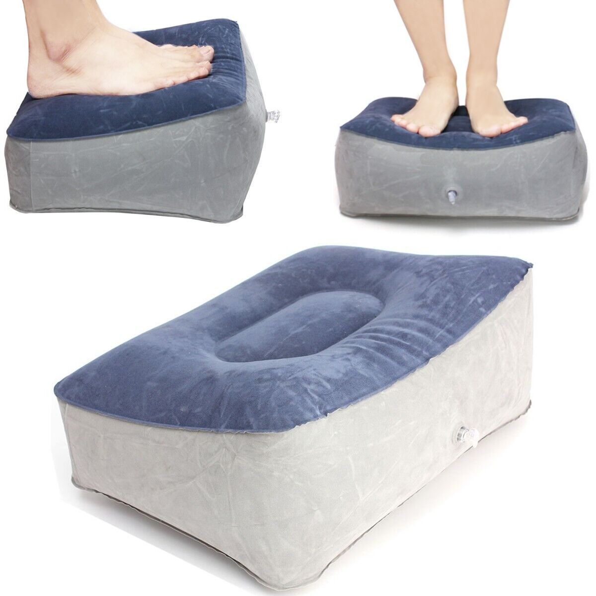 Inflatable Footrest Pillow Travel Home Help Reduce DVT