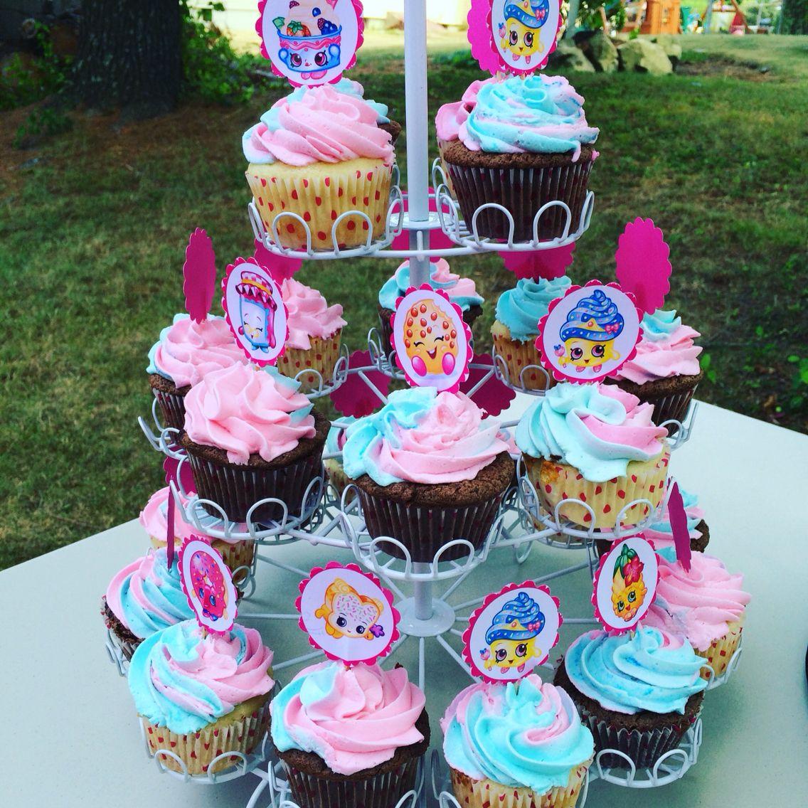 Shopkin Cupcakes Sugarloveevents Shopkins Birthday Party Cake Shopkins Birthday Shopkins Birthday Party