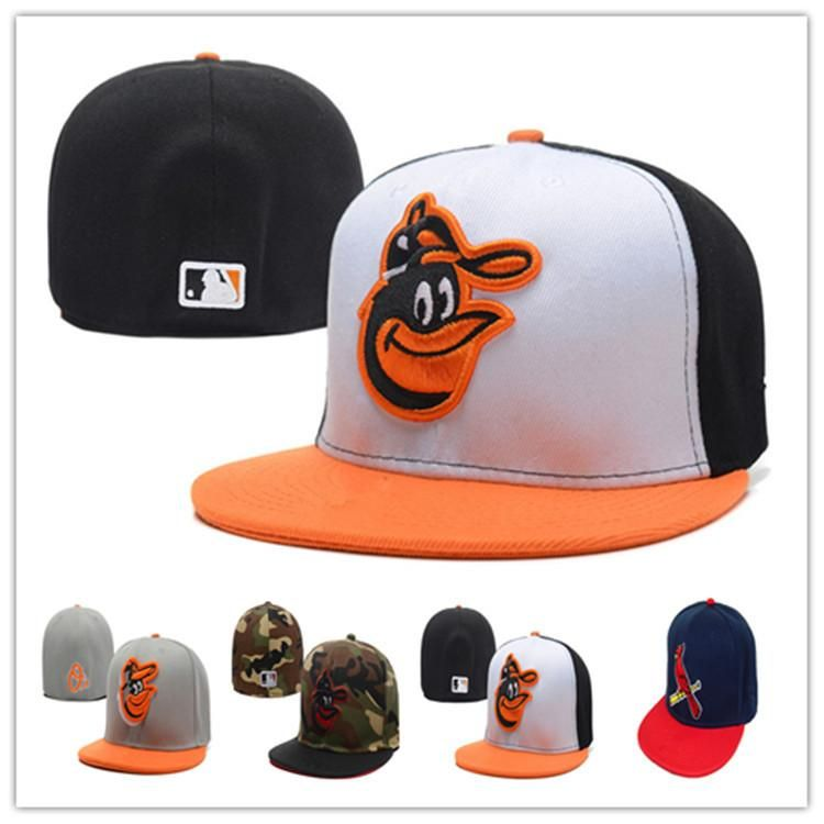Cheap orioles fitted hats baseball cap flatbrim hat team