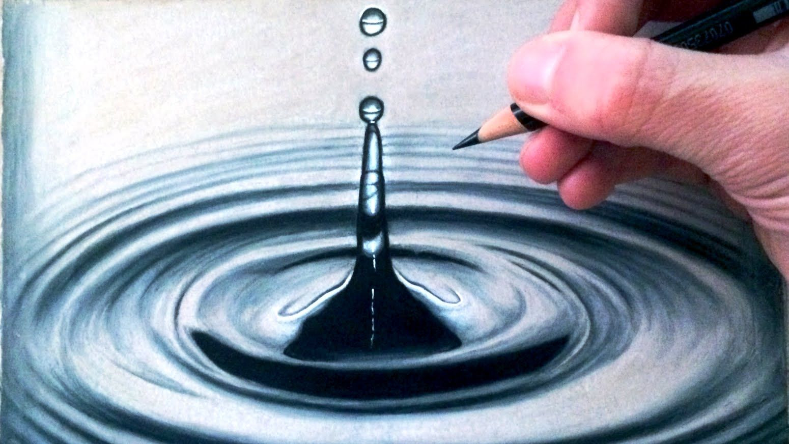 How to draw a water drop splash