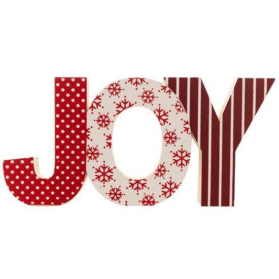 Joy lettering from Sainsburys | Country Christmas decorations | PHOTO .