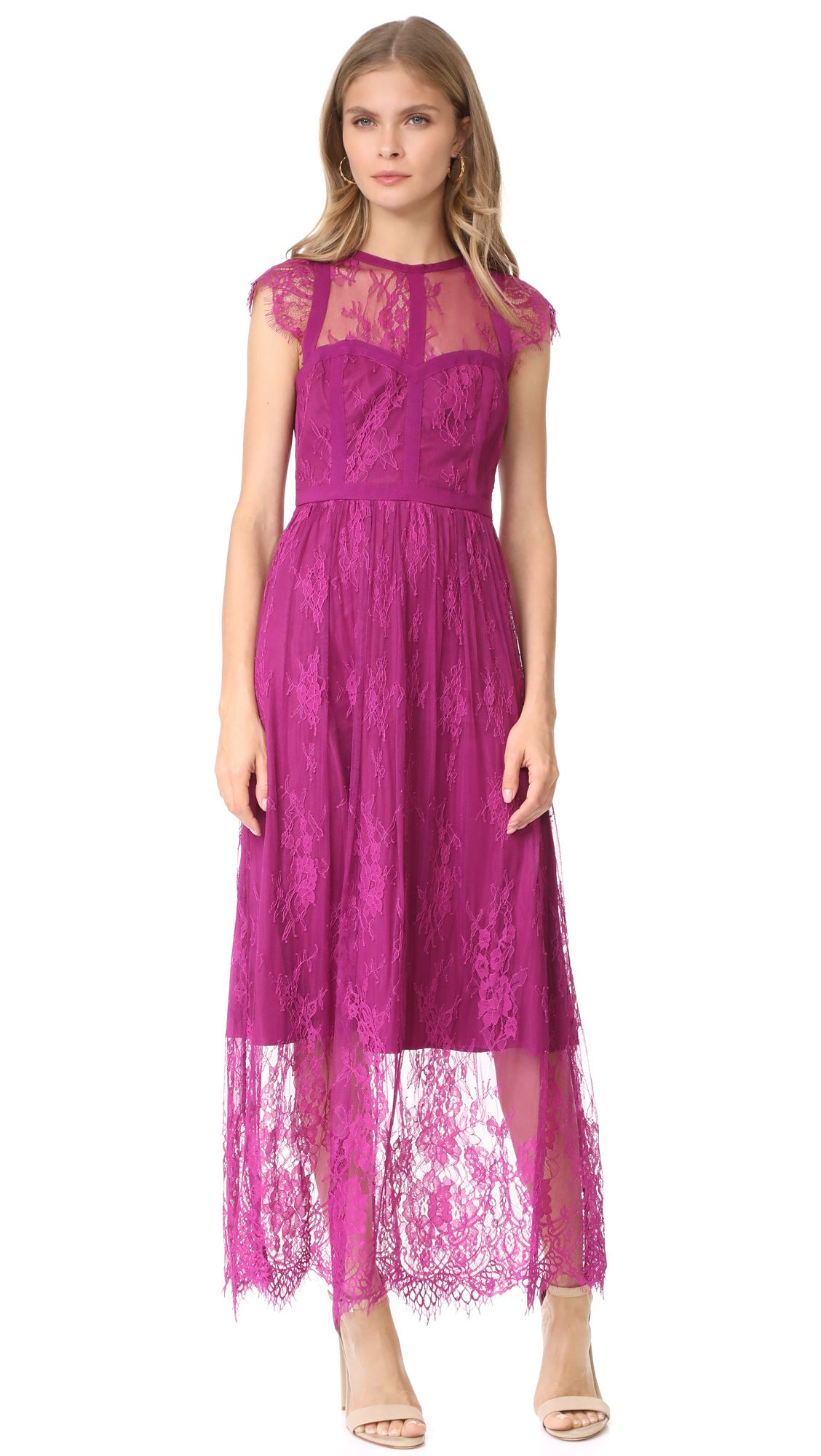 Raspberry lace dress   Parker Black Tesoro Dress #affiliate ...