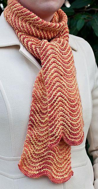 Garter Stitch Chevron. Free scarf pattern by Sundara Yarn | Knitting ...
