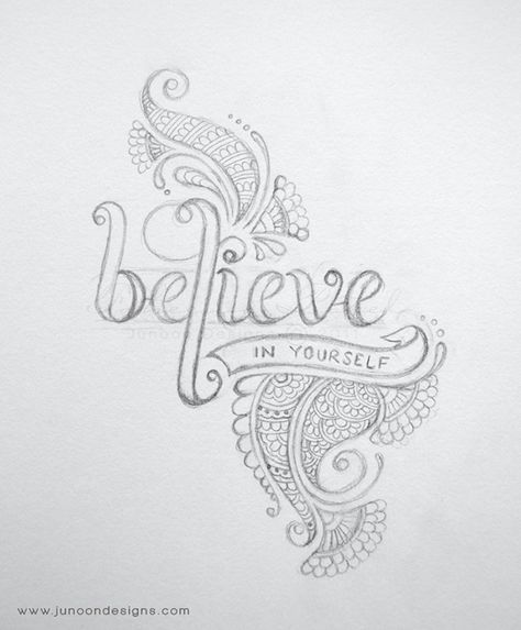 lettering and henna doodle this is a part of a series of inspiring words and drawing designsdrawing ideasfont