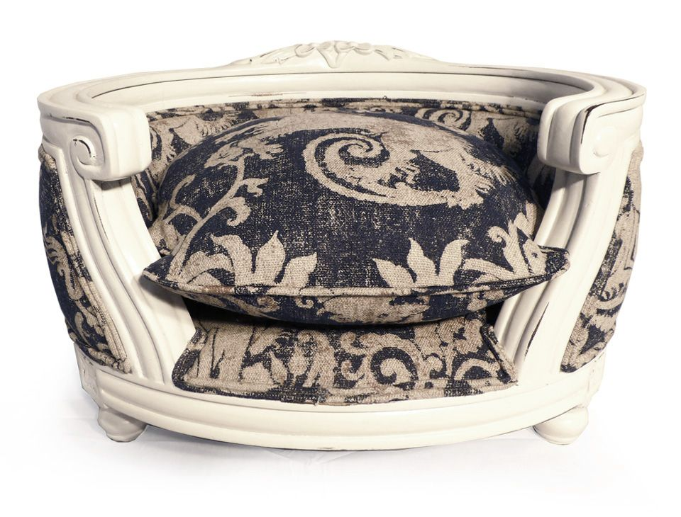 French Louis XVI Style Luxury Pet Bed, Pet Furniture