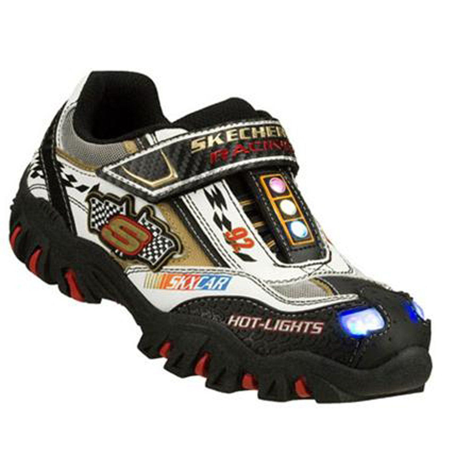 skechers shoes for boys. skechers sk90353 damager-race car boys trainers - white £32.95 shoes for