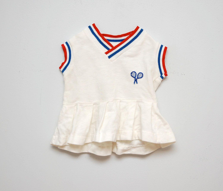 Vintage White Baby Tennis Dress Etsy Tennis Dress Stylish Baby Girls Kids Outfits