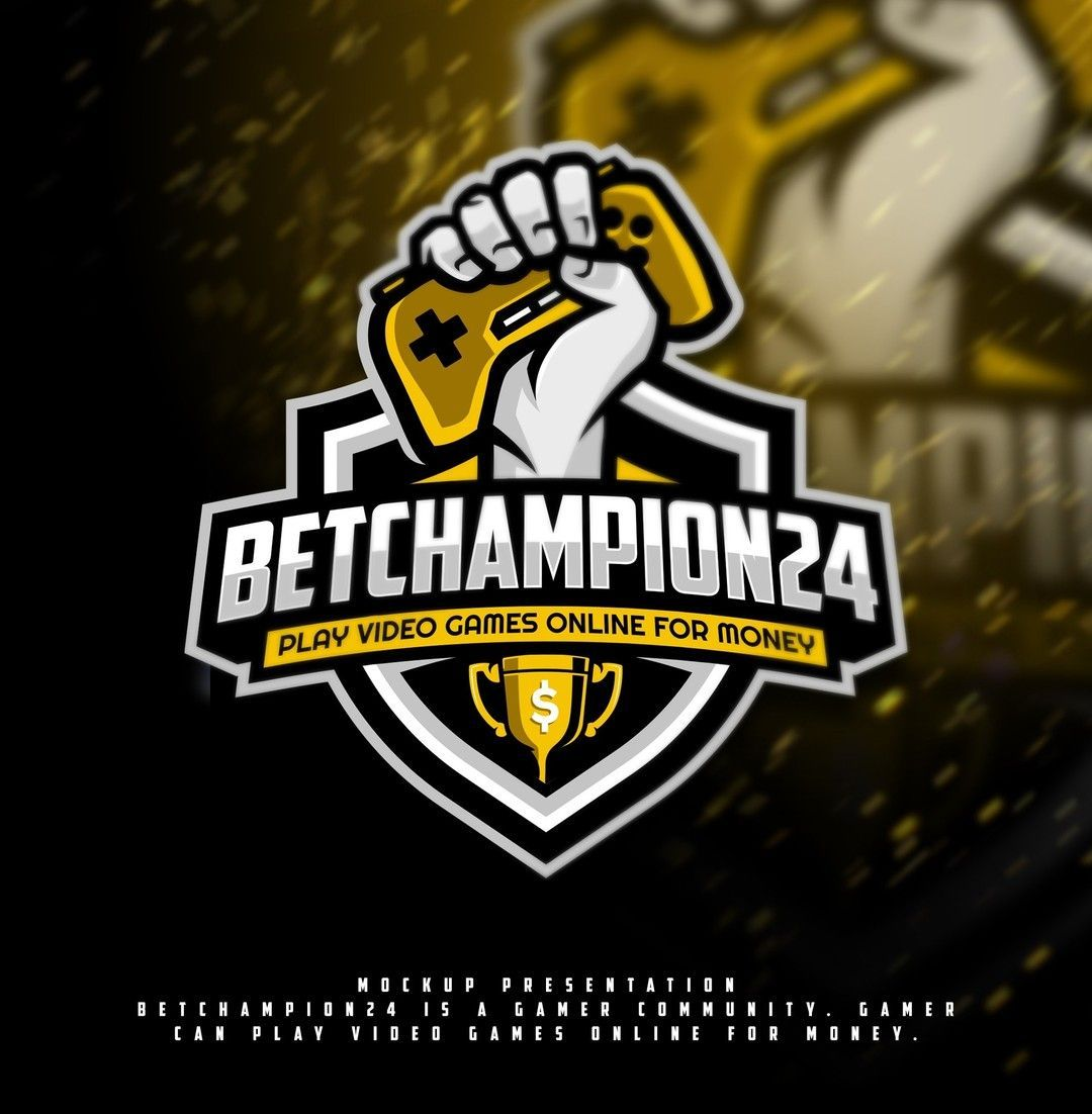 Logo design for BetChampion24, a community where gamers