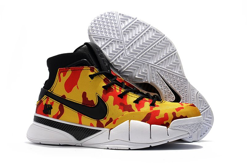 Yellow Camo Undefeated x Nike Zoom Kobe 1 Protro Men s Shoes Free Shipping aeb023847