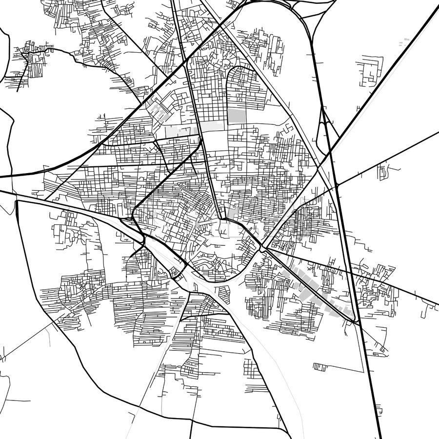 Downtown map of Tanta, Egypt | Tanta | Map, Map vector, Diagram
