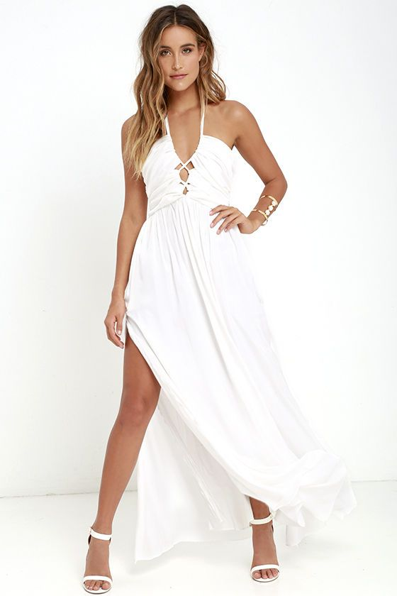 871e20399 The Maximum Magnificence Ivory Maxi Dress is so stunning