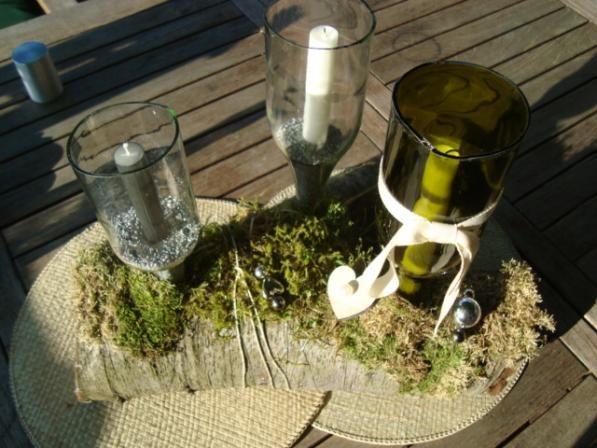 sch nes licht mit alten flaschen upcycling and craft. Black Bedroom Furniture Sets. Home Design Ideas