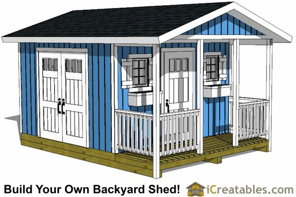 Large Shed Plans How To Build A Shed Outdoor Storage Designs Shed With Porch Shed Design Shed Plans 12x16