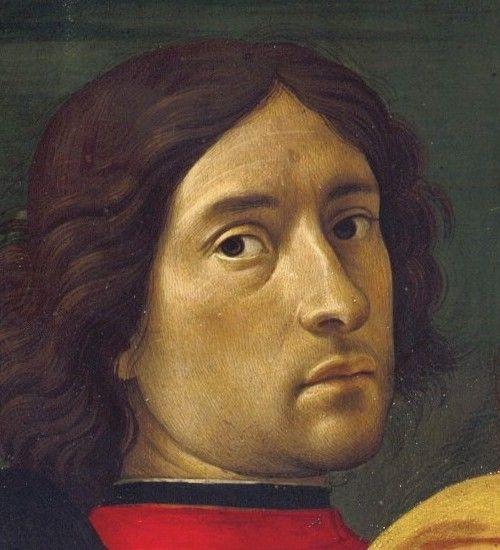 Pala degli innocenti, ghirlandaio, autoritratto, dettaglio - Domenico Ghirlandaio - Wikipedia