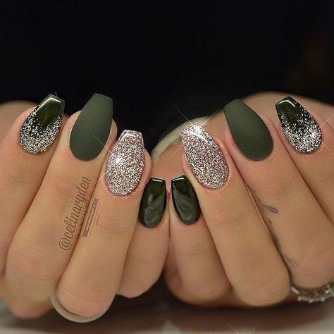 celinaryden elegantnaildesigns  gel nails green nails